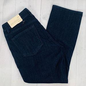 NWT Ann Taylor LOFT Jeans Curvy Kick Crop Dark